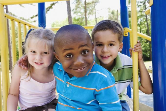 Three kids at playground