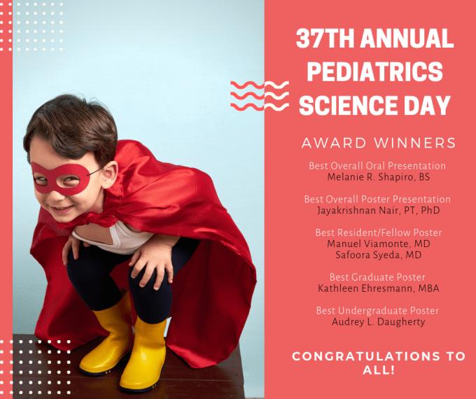 37th Annual Pediatrics Science Day Winners